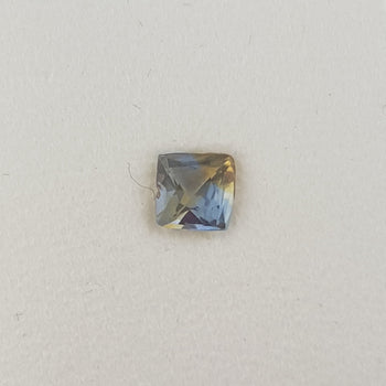 0.45ct Square Cushion Cut Bi-Colour Sapphire 4.3mm