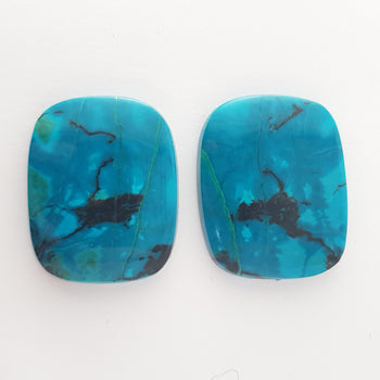 Cushion Shape Cabochon Chrysocolla 26x20mm