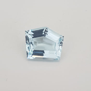 6.06ct Fancy Pentagon Cut Aquamarine 12.7x10.8mm