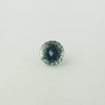 1.56ct Round Faceted Green Sapphire 6.5mm