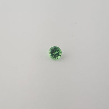 0.46ct Round Faceted Mint Green Garnet 4.5mm