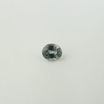 1.11ct Oval Faceted Green Sapphire 6x5.2mm