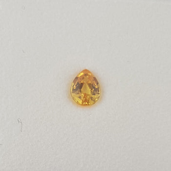 0.39ct Pear Shape Yellow Sapphire 4.9x3.9mm