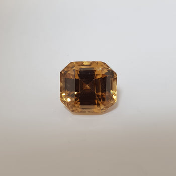 12.93ct Octagon Cut Zircon 12.2x11mm