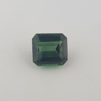 3.42ct Octagon Cut Green Tourmaline 8.7x8.1mm
