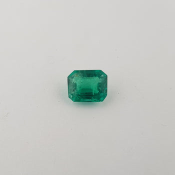 1.27ct Octagon Cut Emerald 7.7x6.1mm