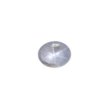 10.19ct Oval Cabochon Blue-Grey Star Sapphire 12x9.6mm