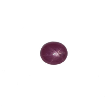 2.1ct Oval Faceted Ruby 7.4x6.3mm
