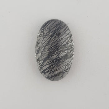 11.01ct Oval Cabochon Tourmalinated Quartz19.3x12.2mm