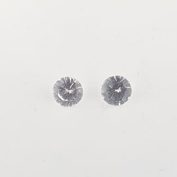 1.03ct Round Faceted White Sapphire 4.8mm