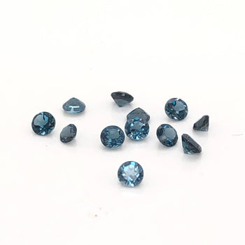 3mm Round Faceted London Blue Topaz