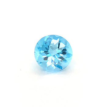 12mm Round Faceted Swiss Blue Topaz
