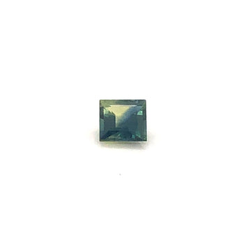 0.58ct Square Faceted Bi-Colour Sapphire 4.6x4.6mm