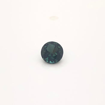 0.47ct Round Faceted Teal Sapphire 4.3x3.0mm