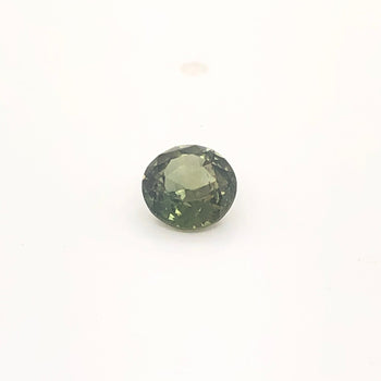 0.85ct Round Faceted Green Sapphire 5.6-5.7mm