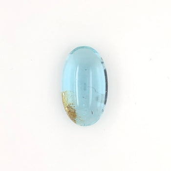 17.06ct Oval Cabochon Aquamarine 21.5x12.6mm