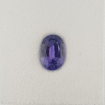 1.26ct Oval Faceted Purple Sapphire 8x5.4mm