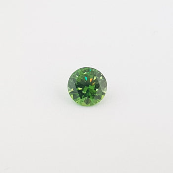 1.68ct Round Faceted Demantoid Garnet 7.2mm