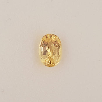 1.76ct Oval Faceted Yellow Sapphire Certified Unheated 8.3x5.7mm