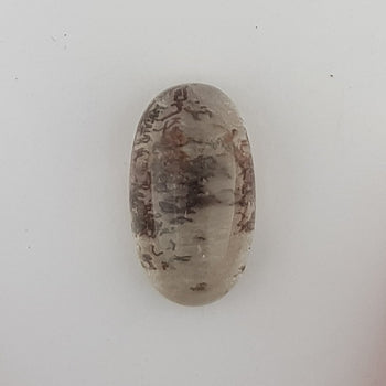 28.62ct Oval Cabochon Quartz with Inclusions 25.5x14.7mm