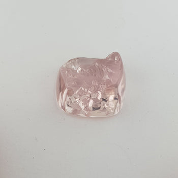 12.89ct Cushion Shape Rough Morganite 14mm