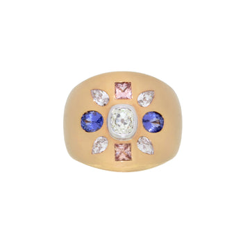 """The Empire"" Sapphire & Diamond Ring in Rose Gold"