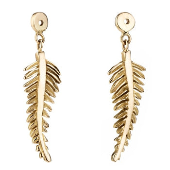 Fern Leaf Interchangeable Drops For Stud Earrings 18ct Rose Gold