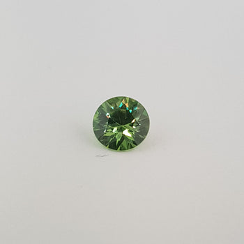 1.05ct Round Faceted Demantoid Garnet 6.5mm