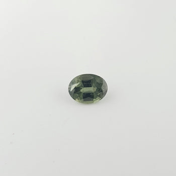 0.74ct Oval Faceted Green Sapphire 6x4.8mm