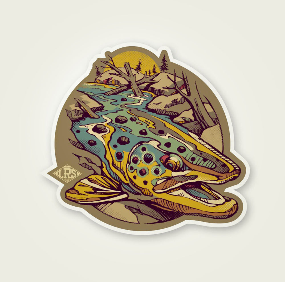 Brown Trout Waters Decal