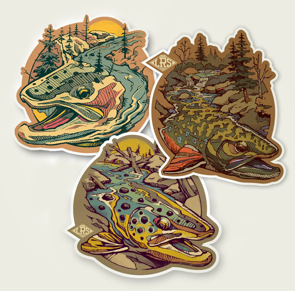 Trout Water Decal Pack