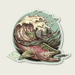 Rainbow Trout Wave Decal