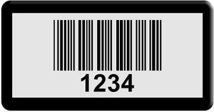 "0.75""x1.5"" A, 0.020"" Anodized Aluminum(100 Labels) - Asset Labels"