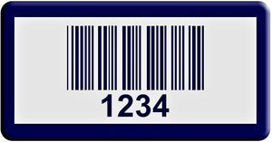 "0.75""x1.5"" A, 0.025"" Lacquered Aluminum(100 Labels) - Asset Labels"