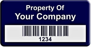 "0.75""x1.5"" C, 0.025"" Lacquered Aluminum(100 Labels) - Asset Labels"