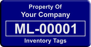 "0.75""x1.5"" F, 0.020"" Anodized Aluminum(100 Labels) - Asset Labels"