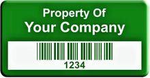 "0.75""x1.5"" C, 0.020"" Anodized Aluminum(100 Labels) - Asset Labels"