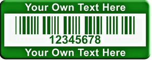 "0.75""x2.0"" A, 0.020"" Anodized Aluminum(100 Labels) - Asset Labels"