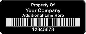 "0.75""x2.0"" Cc, 0.020"" Anodized Aluminum(100 Labels) - Asset Labels"