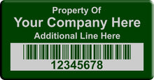 "2.0""x4.0"" B, 0.020"" Anodized Aluminum Asset Tags - Asset Labels"