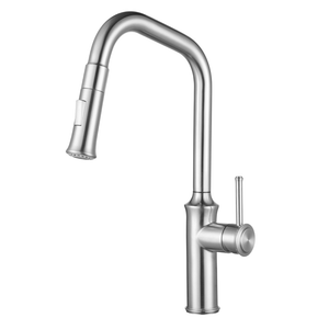 JORDAN Brushed Stainless Steel Kitchen Empire Faucet - PEARL Canada