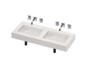 Armony 2 Double Bowl One-piece Vanity Sink - PEARL Canada