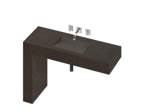 Balance 1 Single Bowl One-piece Vanity Sink