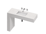 Balance 1 Single Bowl One-piece Vanity Sink - PEARL Canada