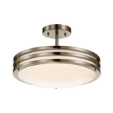 Duncan-L Brushed Nickel Ceiling LED Light - PEARL Canada