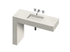 Equilibrium 1 Single Bowl One-piece Vanity Sink