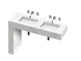 Equilibrium 2 Double Bowl One-piece Vanity Sink