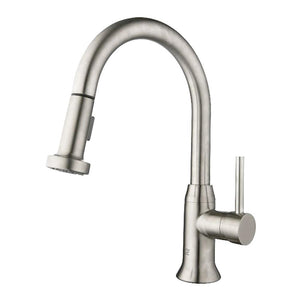 MASA Brushed Nickel Kitchen Faucet - PEARL Canada