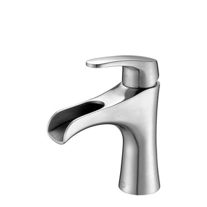 NORA Brushed Stainless Steel Vanity Faucet