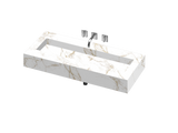 Silence 1200 Single Bowl One-piece Vanity Sink